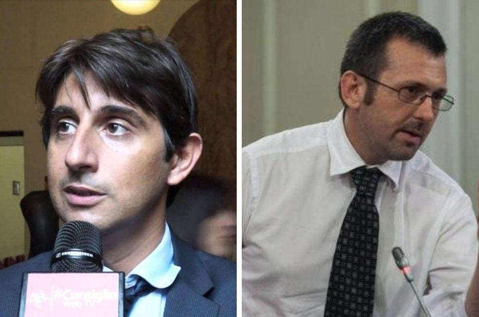 deputati di Fratelli d'Italia Giovanni Donzelli e Andrea Delmastro Delle Vedove
