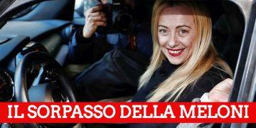 Meloni sorpassa Berlusconi