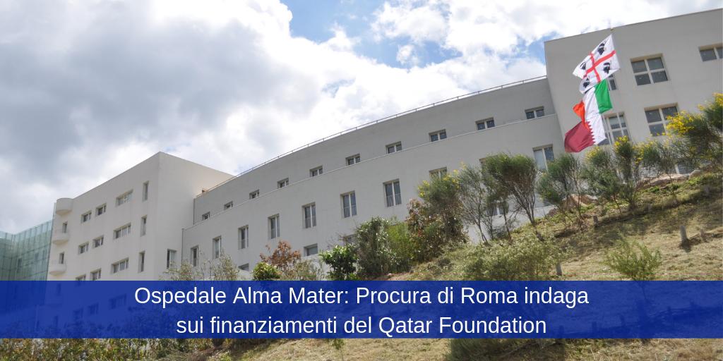 All'Ospedale Alma Mater, oltre alla bandiera Italiana e a quella Sarda, sventola la bandiera del Qatar