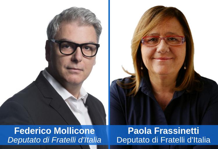 deputati di Fratelli d'Italia della commissione Cultura, Paola Frassinetti e Federico Mollicone