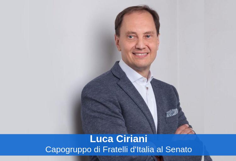 Luca Ciriani, capogruppo di Fratelli d'Italia al Senato.