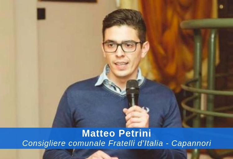 Matteo Petrini, consigliere comunale Fratelli d'Italia - Capannori