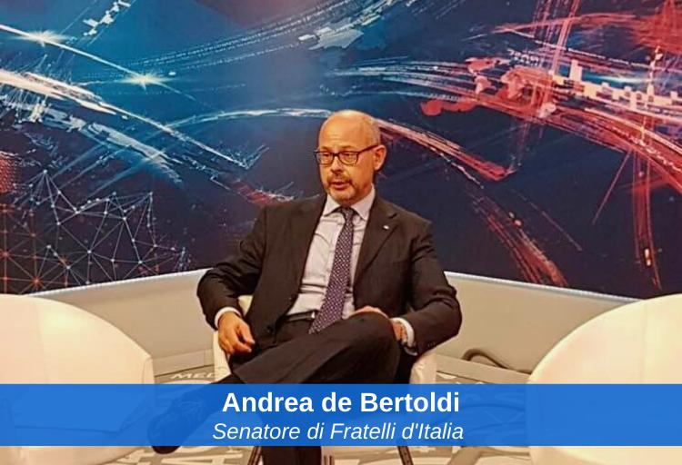 senatore di Fratelli d'Italia, Andrea de Bertoldi, capogruppo di FdI nella Commissione d'inchiesta sul sistema bancario e finanziario.
