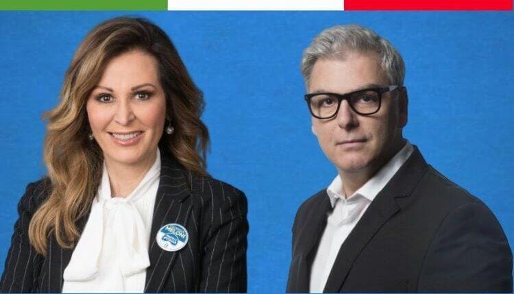 Parlamentari di Fratelli d'Italia, Federico Mollicone e Daniela Santanchè, componenti della Commissione parlamentare di Vigilanza sulla Rai