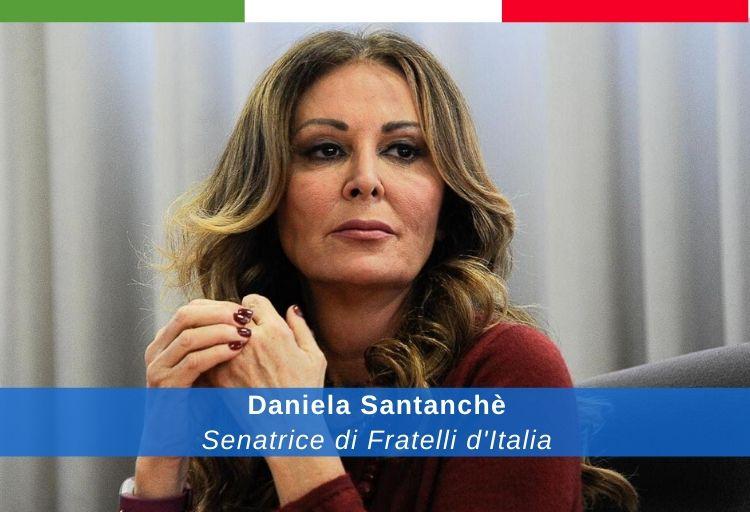 senatrice di Fratelli d'Italia, Daniela Santanchè.