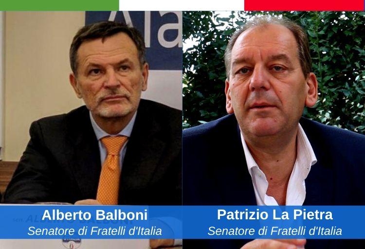 senatori di Fratelli d'Italia, Alberto Balboni e Patrizio La Pietra