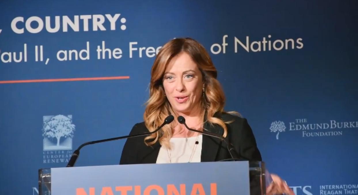 Giorgia Meloni, presidente di Fratelli d'Italia e di ECR Party.