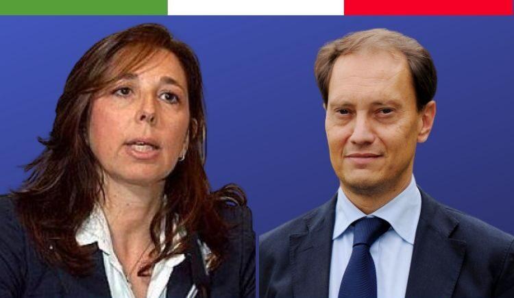 presidente dei senatori di Fratelli d'Italia, Luca Ciriani, e il vicepresidente vicario, Isabella Rauti