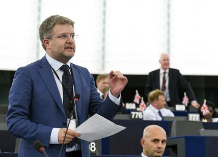 Carlo Fidanza, capodelegazione di Fratelli d'Italia al Parlamento Europeo.
