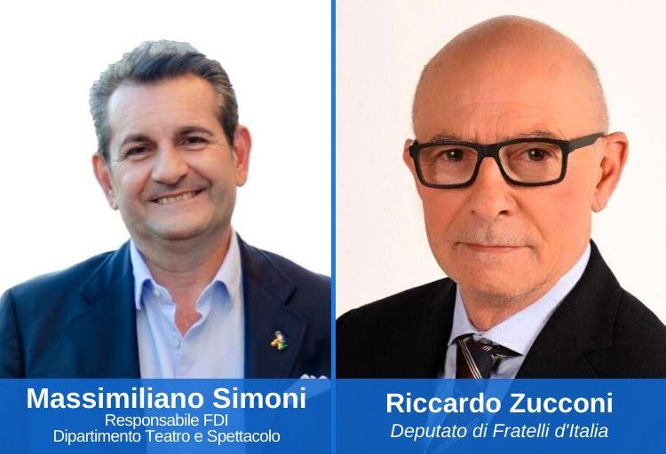 Massimiliano Simoni, responsabile nazionale dello spettacolo e del teatro di Fratelli d'Italia - Riccardo Zucconi, deputato di Fratelli d'Italia, Dipartimento Nazionale Turismo
