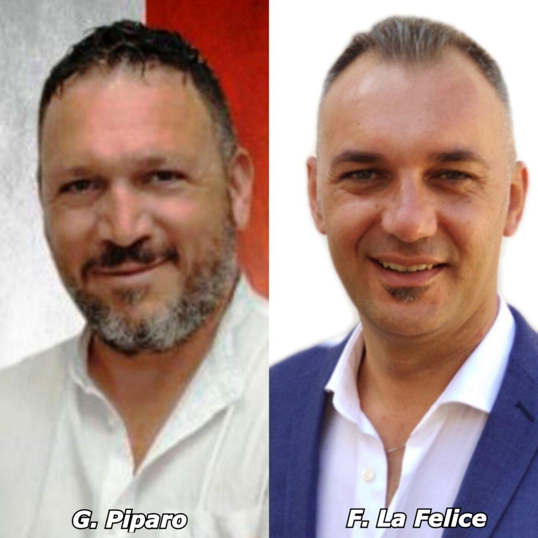 Gerlando Piparo e Fabio La Felice, Consiglieri comunali di Fratelli d'Italia Agrigento.