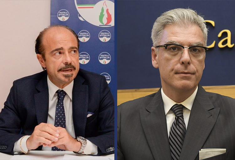 Deputati Alessio Butti e Federico Mollicone, rispettivamente responsabile TLC e responsabile Innovazione di Fratelli d'Italia.