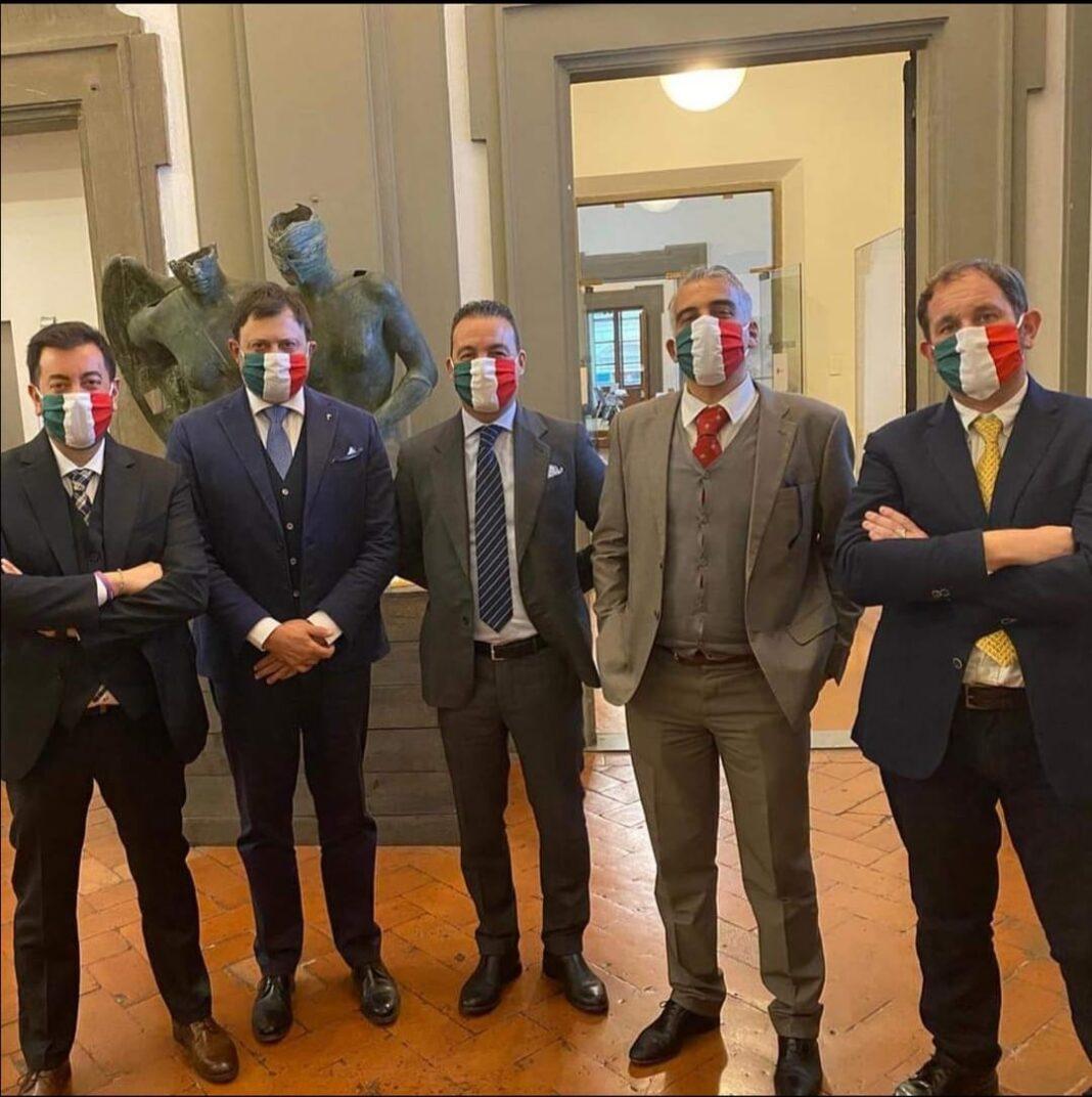 Gruppo Consiglio regionale di Fratelli d'Italia in Toscana: Torselli, Fantozzi, Capecchi, Petrucci e Veneri