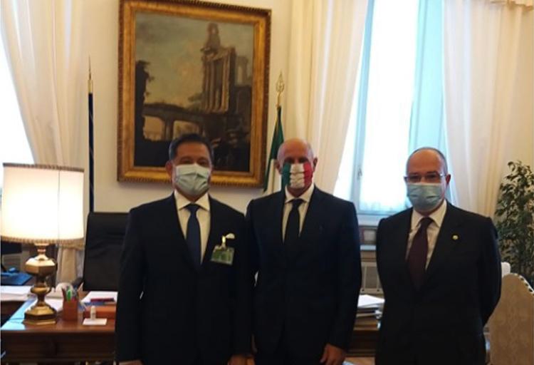 Il vicepresidente della Camera dei deputati Fabio Rampelli e l'ambasciatore di Taiwan S. E. Andrea S. Y. Lee