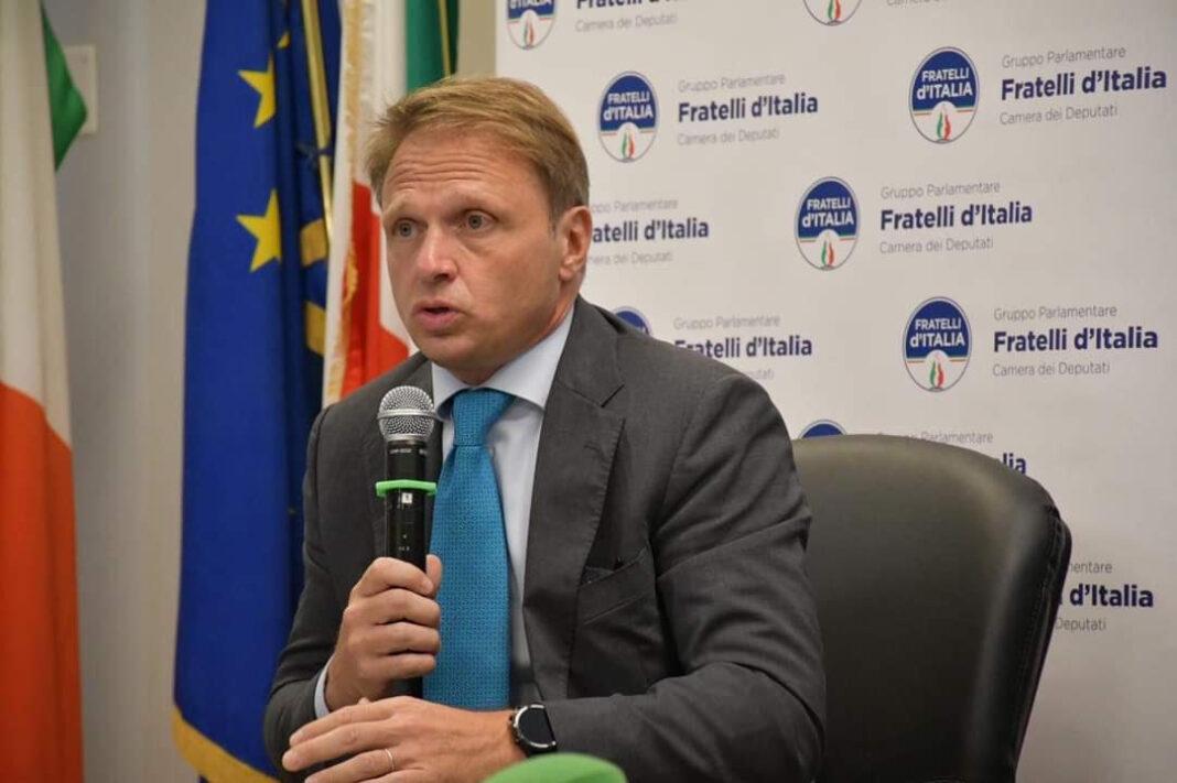 Francesco Lollobrigida, capogruppo di Fratelli d'Italia alla Camera.