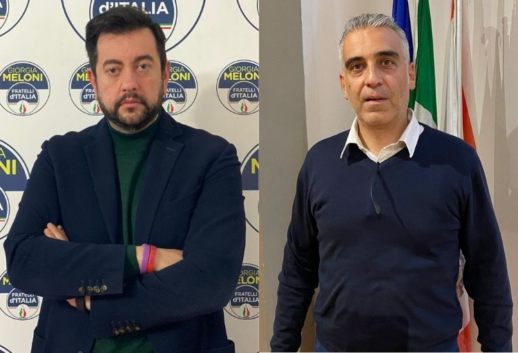Francesco Torselli, capogruppo di Fratelli d'Italia in Consiglio regionale e Diego Petrucci, consigliere regionale Fratelli d'Italia e componente della Commissione Sanità