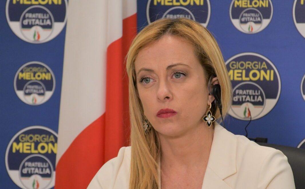 Giorgia Meloni, presidente di Fratelli d'Italia.