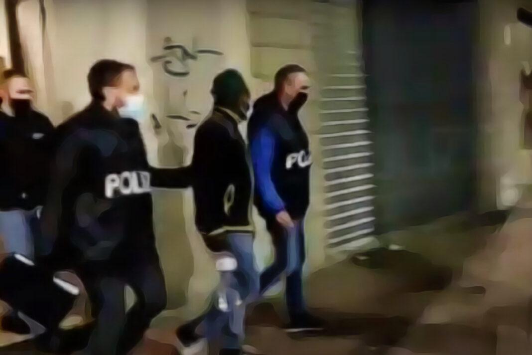 """Mafia nigeriana, maxi-operazione """"Hello Bross"""". Screenshot del video pubblicato dalla Polizia di Stato."""