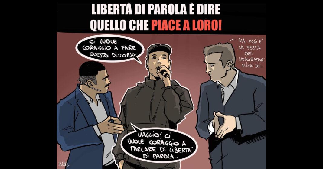 La vignetta satirica di Pubble.