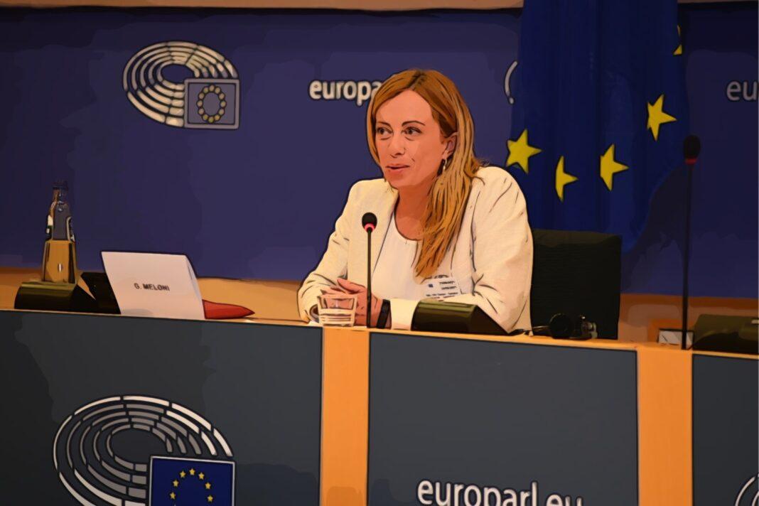 Il presidente di Fratelli d'Italia e di ECR Party, Giorgia Meloni.