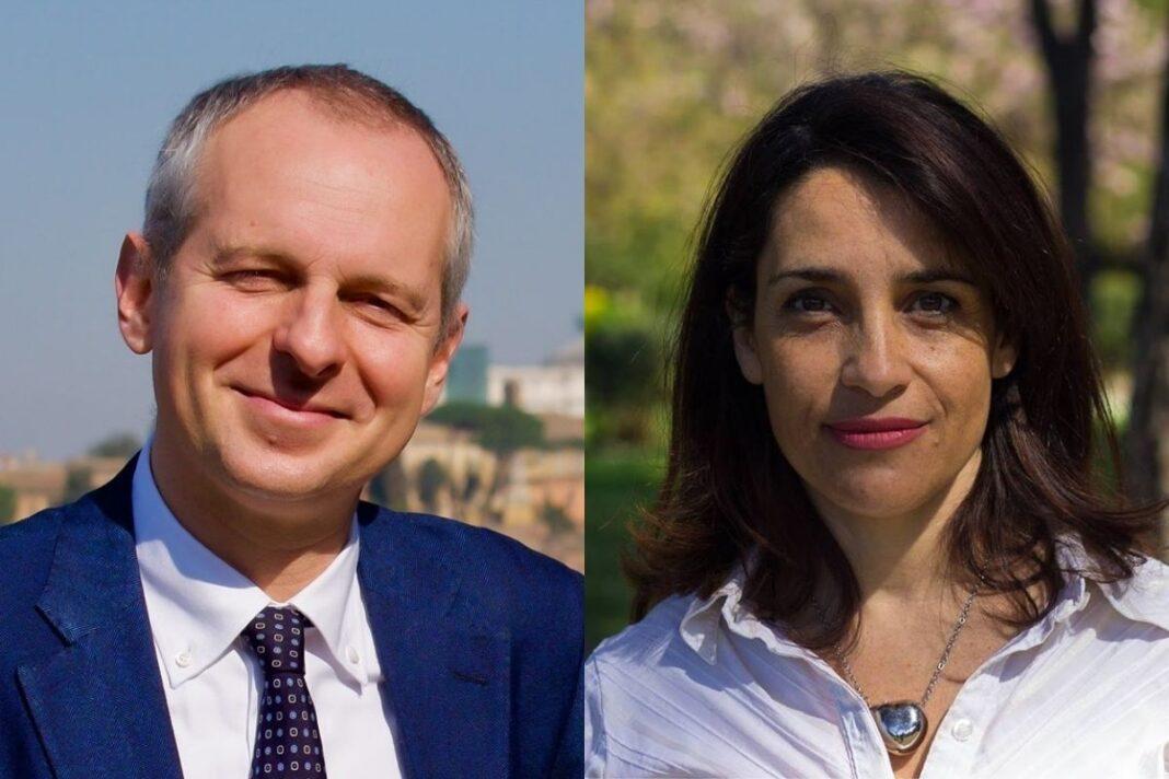 Giovanni Quarzo e Francesca Barbato, candidati FdI al comune di Roma.
