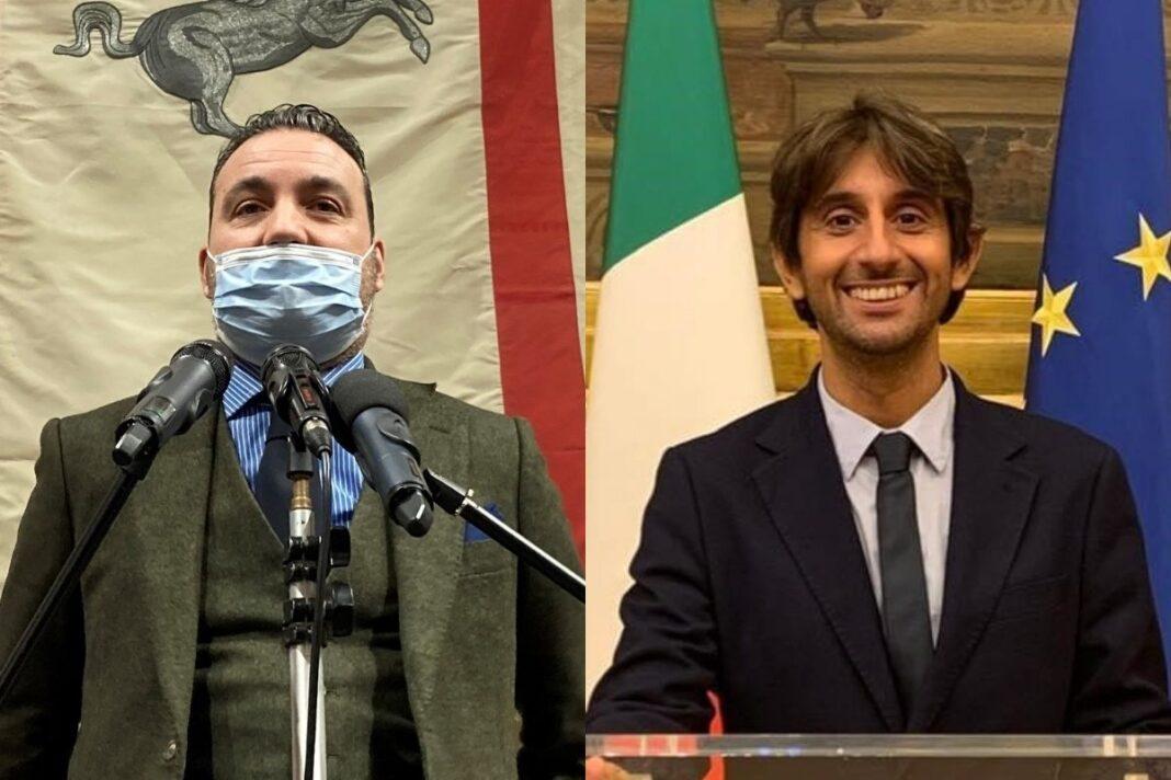 Alessandro Capecchi, consigliere regionale di Fratelli d'Italia e vicepresidente della commissione Infrastrutture e Giovanni Donzelli, deputato di Fratelli d'Italia.