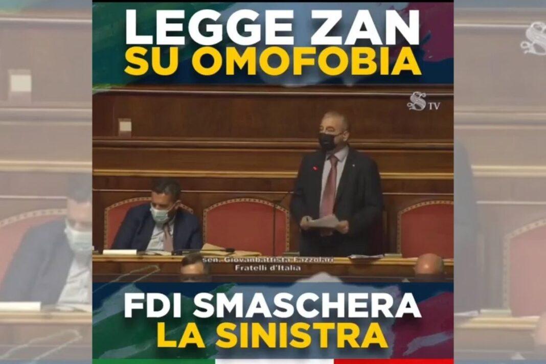 Giovanbattista Fazzolari, senatore di Fratelli d'Italia.