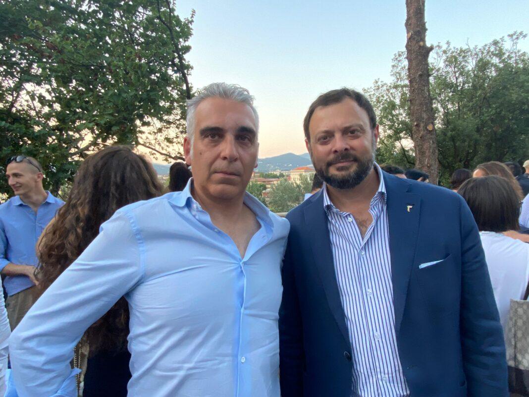 Vittorio Fantozzi, vice-capogruppo Fratelli d'Italia in Consiglio regionale e il Consigliere regionale Diego Petrucci di Fratelli d'Italia.