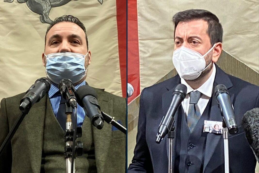 Alessandro Capecchi e Francesco Torselli, consiglieri regionali di Fratelli d'Italia.
