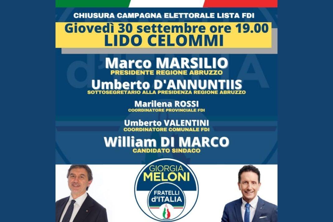 Locandina dell'evento organizzato da Fratelli d'Italia.