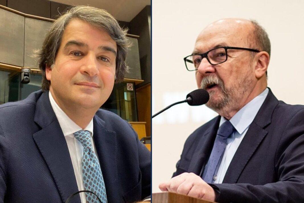 Raffaele Fitto e il professor Ryszard Legutko, copresidenti del gruppo ECR al Parlamento europeo.