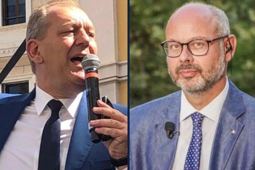 Patrizio La Pietra e Andrea de Bertoldi, senatori di Fratelli d'Italia.