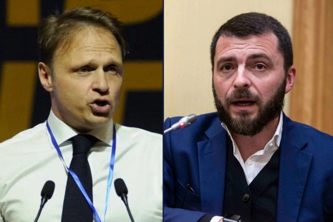 Francesco Lollobrigida, capogruppo di Fratelli d'Italia alla Camera e Walter Rizzetto, deputato di Fratelli d'Italia