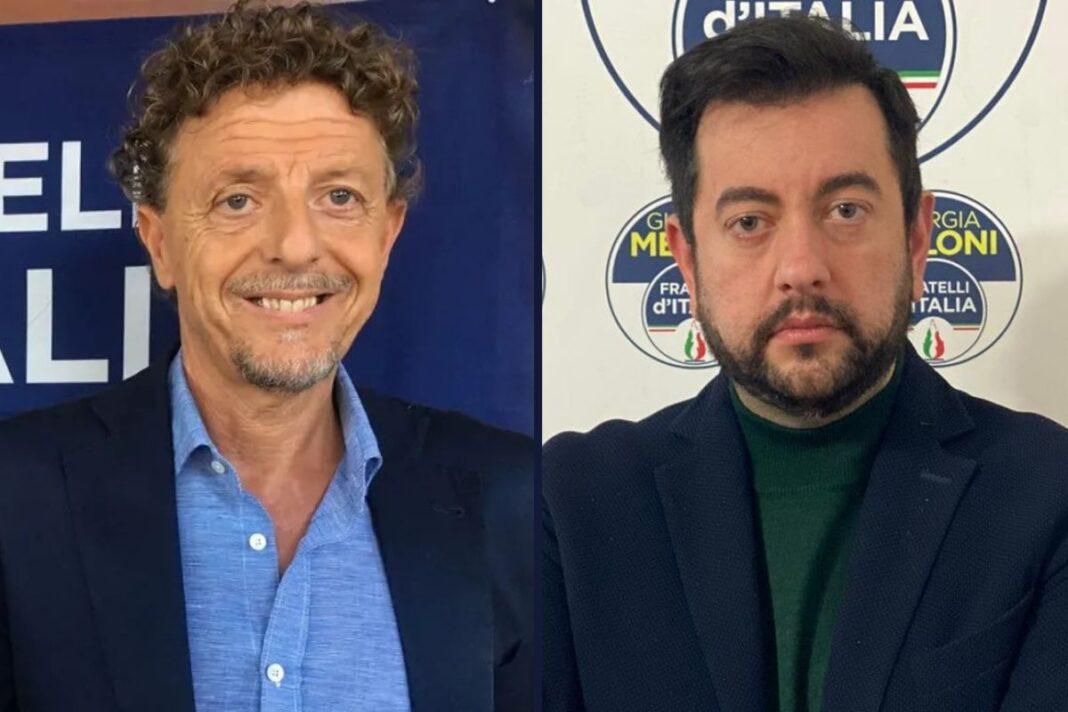 Paolo Marcheschi, dirigente nazionale di Fratelli d'Italia e Francesco Torselli, capogruppo di Fratelli d'Italia in Consiglio regionale.