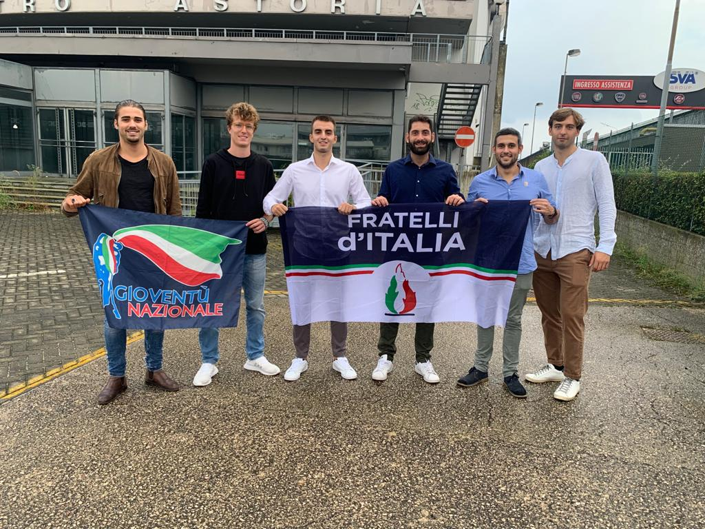 Fabio Roscani, Presidente Nazionale di Gioventù Nazionale, movimento giovanile di Fratelli d'Italia durante la visita alla Comunità militante di Ravenna.