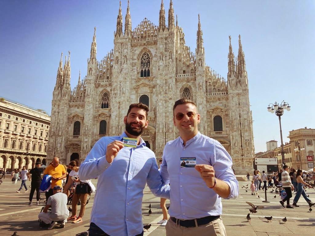 Fabio Roscani, Presidente Nazionale di Gioventù Nazionale e Francesco Rocca, presidente di Gioventù Nazionale Milano e candidato al Consiglio comunale di Milano.