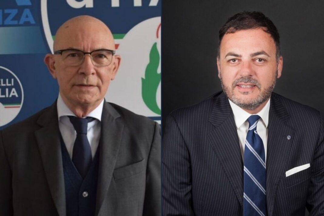 Riccardo Zucconi e Massimiliano De Toma, deputati di Fratelli d'Italia.