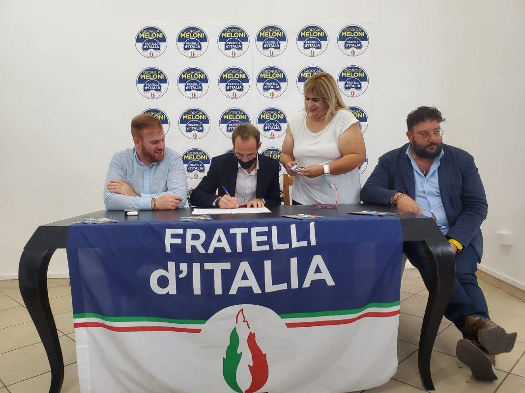 Andrea Intellini, il nuovo aderente di Fratelli d'Italia.