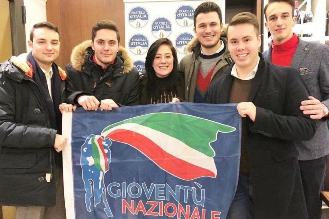 Chiara La Porta, Vicepresidente nazionale di Gioventù nazionale, e Alberto Gandolfi, coordinatore provinciale di Gn.