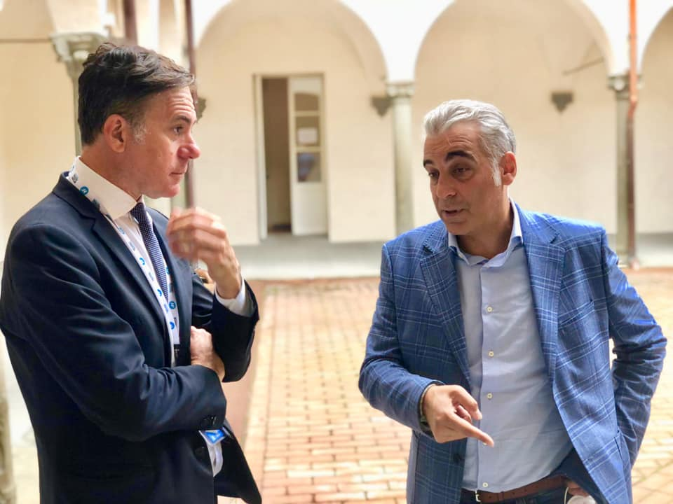 Diego Petrucci, Consigliere regionale di Fratelli d'Italia e Michele Conti, sindaco di Pisa.