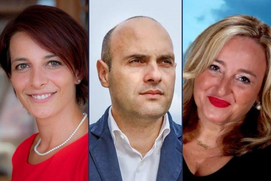 Rachele Silvestri, Emanuele Prisco e Lucia Albano, deputati di Fratelli d'Italia.